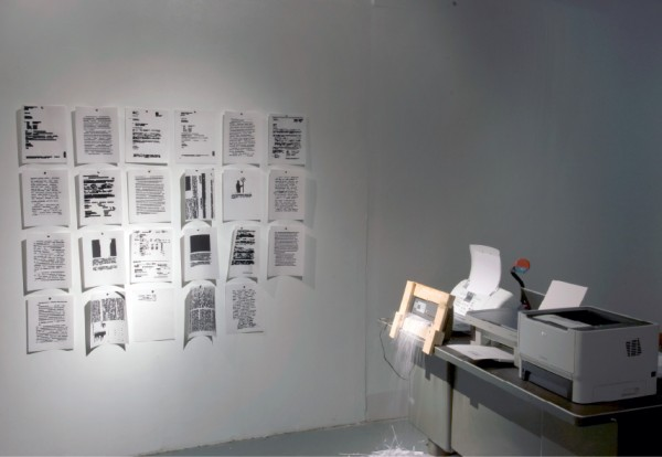 Death to All Modifiers/War on Articles (An Apology(The Redactinator)): Installation View